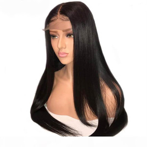 360 Lace Front Wig Human Hair Glueless Brazilian Virgin Hair Silky Straight 360 Lace Frontal Wigs Pre Plucked With Baby Hair For Women