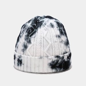 2020 New France Fashion Beanie Hat Cheap Fitted Tie-Dyeing Color Unisex Fashion Winter Beanie Skull Cap