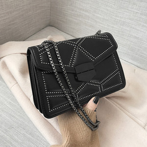 PASSIONFANCY Rivet Chain Small Crossbody Bags For Women 2020 Shoulder Messenger Bag Lady Luxury Handbags Q1129