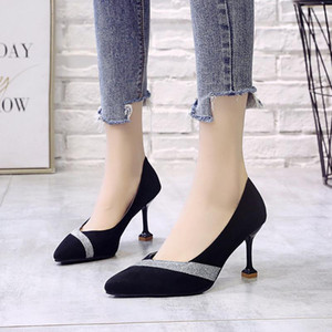 New fashion pointy color matching fashion catwalk professional shallow mouth ladies high heels casual comfortable women W32-03