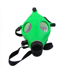 bong water pipe Hookah Shisha Best-selling Boutique Silicone Skull Hookahs Mask Monochrome Smoke Gun Silicone Hookah Mask Hookahs