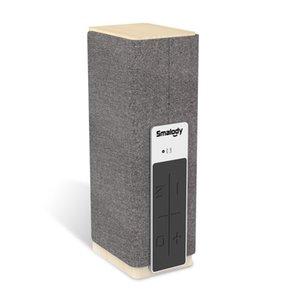 Smalody Elegent Wooden Desktop Bluetooth 스피커 20W 고전력 TWS 스테레오 야외 라우드 스피커 USB 디스크 TF 카드 Aux 나무 서브 우퍼