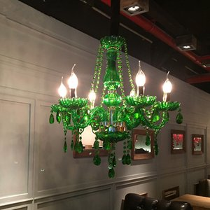 Modern LED Green Crystal Chandelier Lights Lamp For Dining Living Room Light Ceiling Fixture Indoor Pendant Lamp Home Decorative