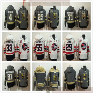 Vegas Goldene Ritter Hockey Hoodies Trikots 29 Marc-Andre Fleury 71 William Karlsson 29 Patrik Laine 33 Dustin Byfuglien 55 Mark Scheifele