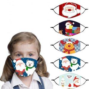 С Рождеством украшения партии Маска для детей Cute Xmas Gifts многоразовый маска 2021 New Year Party Supplies GWA2402