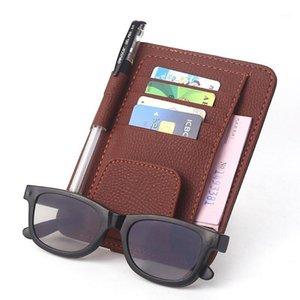 Cartão de armazenamento de armazenamento de visitas de couro de couro sacos de bolsas de bolsas de bolsas de venda de vidros titular de caneta stroiçando organizador de carros1