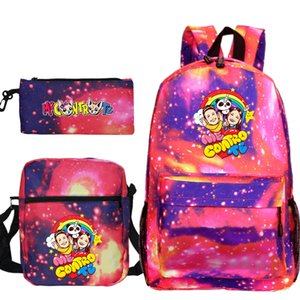 Me Contro Te Монстры Ash Ketchum / Mochila рюкзак девушки мальчик малыш дети школьного карандаш мешок 201117