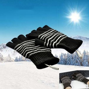 Luxury-Winter Electric Windproof Warm half-finger Touch Screen Gloves For Men Women USB Powered Heated Thermostat Mitten