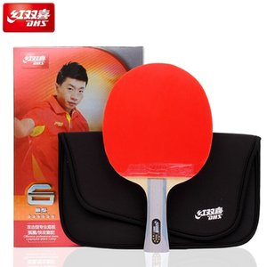 DHS 6002 Table Tennis racket with ITTP Approved pimples in table tennis rubber FL handle DHS ping pong paddle 201116