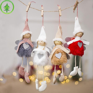 Christmas Angel Plush Doll Girl Ski Pendant Christmas Tree Decoration For Home Xmas Party Kids Gift Bedroom Decoration DHL Free shippin