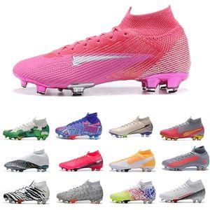 Mbappé Rosa Pink Blast Football Boots Cleats Daybreak South Korea Customized Elite Mercurial Superfly 7 VII Black Orange Mens Soccer Shoe