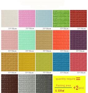 70*77 3d Brick Wall Stickers Diy Self Adhensive Decor Foam Waterproof Wall Covering Wallpaper For Tv Backgroun wmtKnS dh_garden