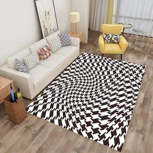 3D Stampato Tappeto Tappeto Balck Bianco stampato Stampato Alfombra Area Tappeto Tappeto Tappeto per soggiorno Camera da letto Decorative decorative