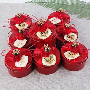 Hochzeit Candy Box Blechblech Kreative Hochzeit Süßigkeiten Verpackung Geschenkbox Hochzeit Geschenk Custom Wholesale Rose Rote Champagnergold