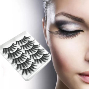 5Pairs 3D Mink Lashes Hair False Eyelashes Extension Natural Volume Thick Long Eye Lashes Wispy Makeup Beauty Extension Tools