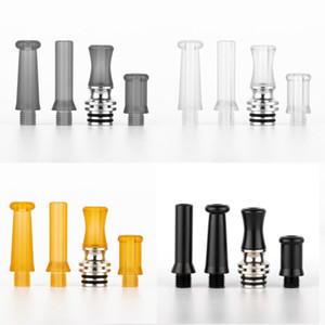 SS Epoxy Resin Drip Tip Kit 4in1 Set 510 Drip Tips Stainless Steel Core For 510 Vape Tank Atomizers DHL Free