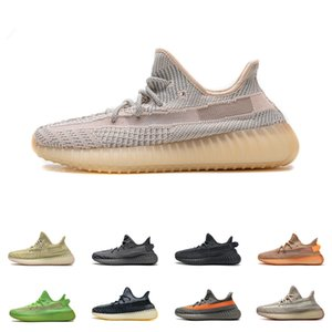 Mens 350 V2 Kanye West V2 Sneakers Womens Grey Earth Desert Sage 3M Black Reflective Static Cinder Yechiel Tail Light Cream White Running Shoes