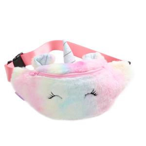 Симпатичные Unicorn Plush Fanny Pack Мягкие плюшевые талии карманы мода детей кошелек сумки на открытом воздухе зима 11sm e1