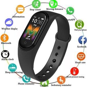 Waterproof M5 Smart Watch Intelligent Smartband Ein Partner, um Ihren Gesundheitsblutdruck-Herzfrequenz-Tracker-Armband DHL frei zu überwachen