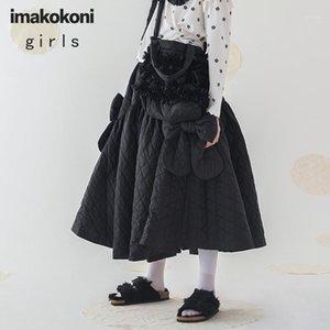 imakokoni design original acolchoado saia japonesa inverno quente mid-comprimento outono e inverno 1928751