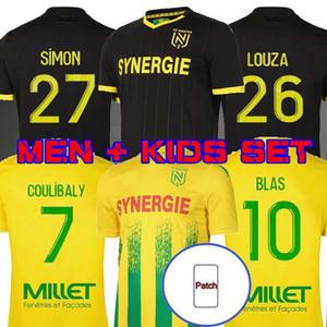 20 21 FC Nantes Jersey Jersey Accueil Maillot de Foot 2020 2021 Simon Louza A Toue Blas Coco Coco Coulibaly Adulte Hommes Football Ensembles