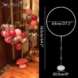 27 pulgadas de círculo ancho en globo kit de soporte para globos marco baby shower fiesta de cumpleaños boda fondo decorativo accesorios decorativos