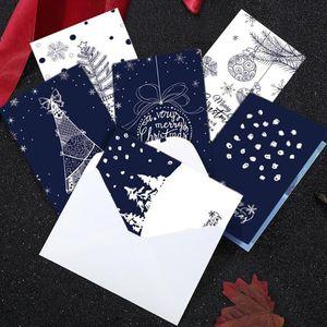 35# Christmas Greeting Card New Creative Retro Gift Thank You Card 6pcs set Christmas Friend decorations for home navidad