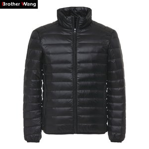 Brother Wang Men's Duck Down Jacket 2019 New Autumn Winter Men Fashion Casual Light Collar Coat Brand Clothes Black Red Navy Y1120