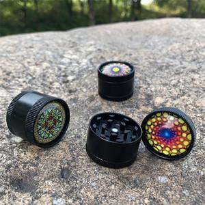 30 mm mini amoladora personalidad originalmente accesorios de fumar camuflaje color trompeta tres capas hierba humo nuevo caja de alta calidad 6gl K2