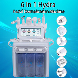 6in1 Hydrafacial Diamond Dermabrasion Machine Oxygen Jet Peel Hydra Skin Scrubber Facial Beauty Deep Cleansing RF Face Lifting Cold Hammer