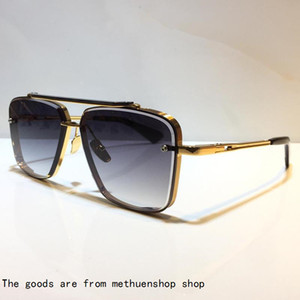 Six Model M Винтажные солнцезащитные очки Металлические мужчины Популярные моды стиль солнцезащитные очки квадратные безрамоглазные UV 400 объектив поставляются с пакетом классический yyjj lhpu
