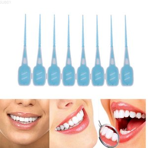 16pcs Set Soft Silicone Dental Interdental Disposable Teeth Stick Toothpicks Floss Tooth Pick Oral Care Brush