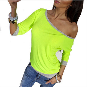 Off Shoulder Sexy Summer Women Blouses Shirt Long Sleeve New Fashion Casual Autumn Spring Top Tees Solim Slim Blusas Plus Size