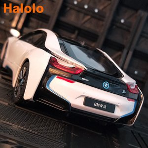 Free delivery RASTAR 1:24 BMW I8 alloy car model Diecasts & Toy Vehicles Collect gifts Non-remote control type transport toy Z1124