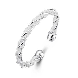 New Fashion Retro Personality Woven Twisted Wire Model Simple Open Bracelet For Mother For Girlfriend Birthday Gift