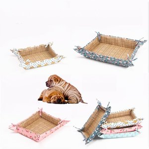 Summer Hot Sale Pet Bed Cool Wisteria Seat Fabric Mat High Quality Pets Supplies Bed For Dogs Cats Fashion Comfortable Cute Sofa