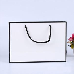 Белая карта крафт бумажный мешок сгущает одежда подарок покупки упаковки сумка одежда подарок бумажный пакет с ручками eef3568