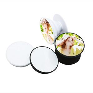 Sublimation Telefonhalter Airbag Stand Haken Blank DIY personalisierte kundenspezifische Stick auf Kunststoff-Handy-Halterung-Metalleinsatz