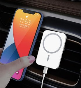 New Portable Qi Fast Charging Strong Magnet 15W X16 X19 Magnetic Wireless Car Charger for iPhone 12 Pro Max With Package