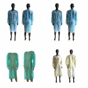 Dokunmamış Koruyucu Giyim Tek Kullanımlık İzolasyon Abiye Giyim Sıkları Açık Anti Toz Ev Raincoat Cyz2910 Deniz Nakliye