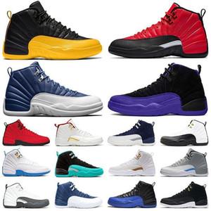 Лучшие продажи 12s Баскетбольные Обувь Мужской Черный Гидратный Гимнастический Грипп Gamma Blue Мужской Шарм Сексуальный