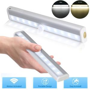 5* PIR Motion Light Sensor LED Night Lights Closet Desk Drawer Under Cabinet Lamp 6   10 LED