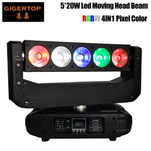 Tiptop Factory LED Moving Head Wash Light Smart e Shining Flowing Light, 5x20W LEDs CMY Colore Miscelazione 16 / 32DMX Canali di controllo