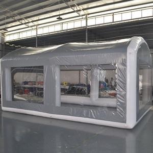 Надувные герметичные распылительные стенды, открытый мобильный грузовик, роспись рабочей комнаты для ухода за автомобилем Кабинет дешевая цена с воздушным насосом