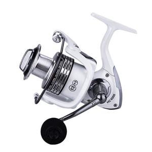 K8356 Spinning Bobina da pesca 13 + 1BB 1000-7000 Spool Metallo Peche Bianco Pesce Ruota intercambiabile Maniglia intercambiabile Carpa Accessori da pesca Z1128