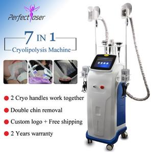 FDA Approvato Cryolipolysis Body Slimming Fat Freeze Machine Blocco Fresco Shaping Liposuzione Aspiosuzione Attrezzatura ad ultrasuoni RF Apparecchiature laser Lipo