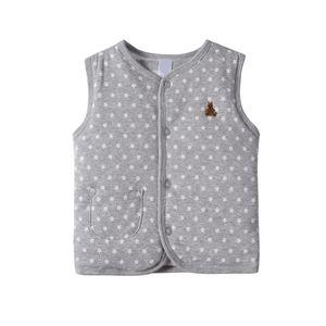 Autumn Winter Double Cotton Thick Vests Clip Cotton Infant Baby Clothing Unisex Children's Clothing B101 201110