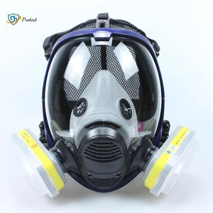 Mask 6800 7 in 1 Gas Mask Dustproof Respirator Paint Pesticide Spray Silicone Full Face Filters for Laboratory Welding1