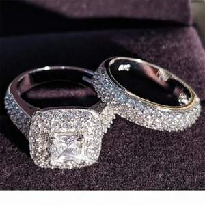 Moonso Trendy Wedding Ring Set Band Suitable For Brides Girls And Ladies Ladies Love Couples Jewelry Accessories