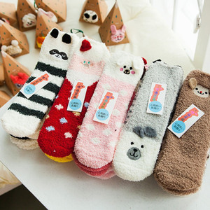 Three Dimensional Sleep Stocking Winter Keep Warm Embroidery Coral Velvet Sock Animal Santa Claus Design Christmas Socks Stereo 4 8zx BB